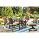 Signature Design by Ashley Moresdale Set of 2 Outdoor Swivel Chairs w/ Cushion