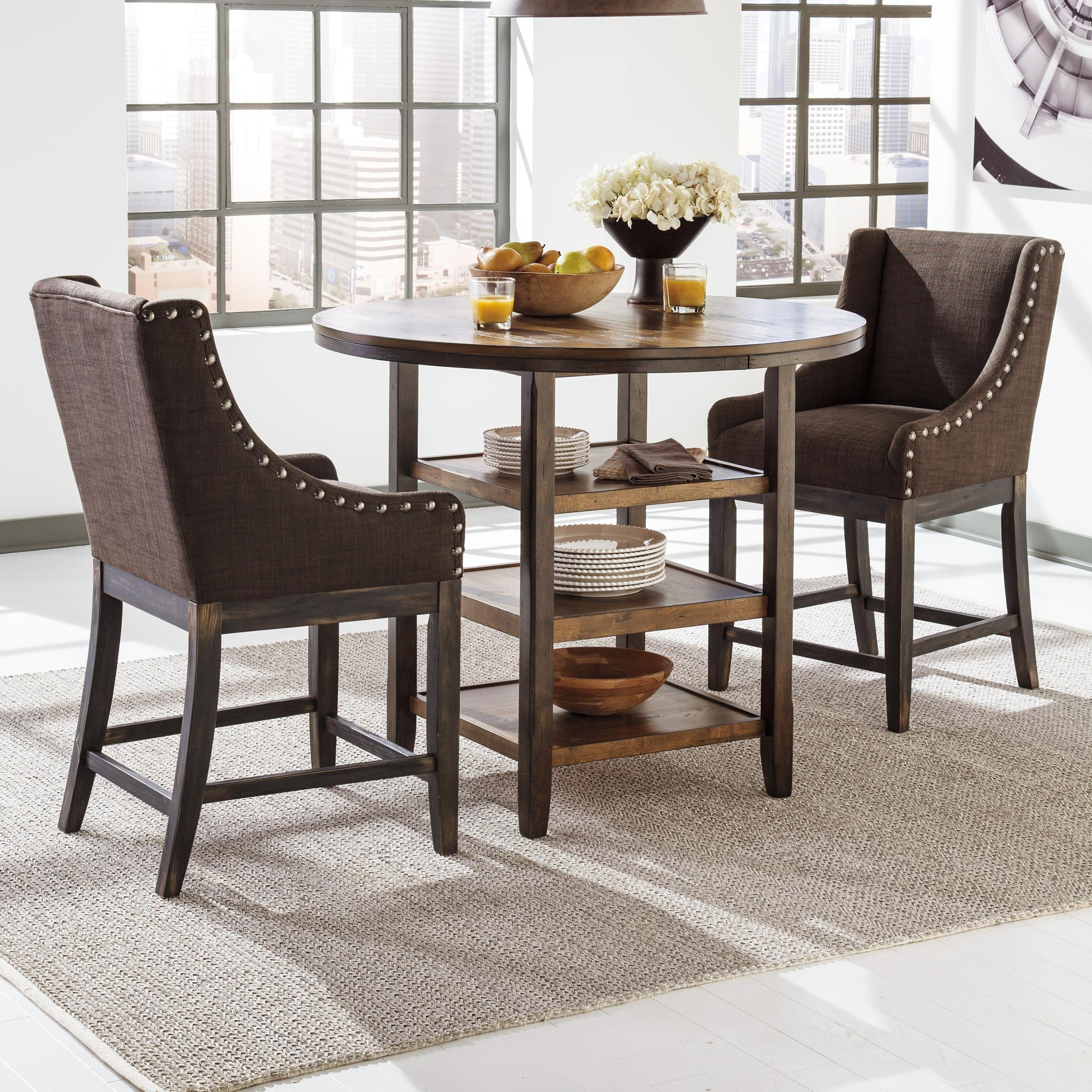 Signature Design by Ashley Moriann 3-Piece Counter Table Set - Item Number: D608-13+2x424