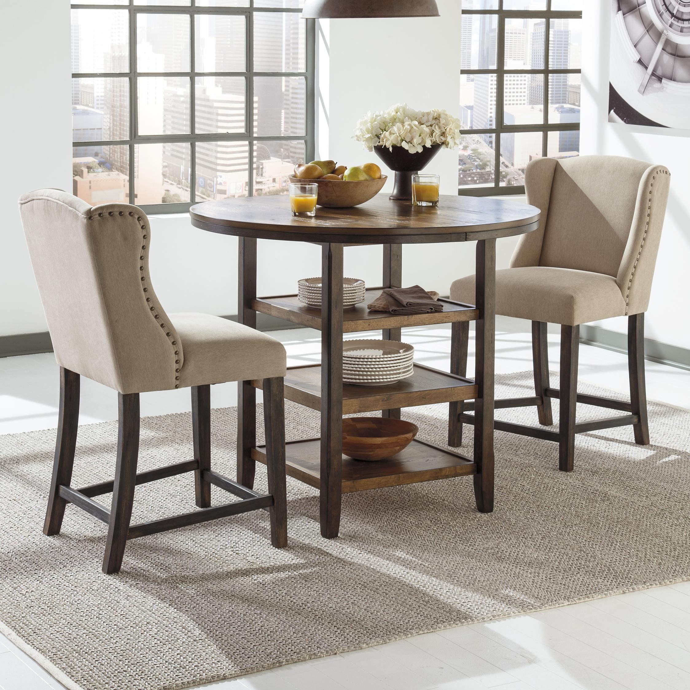 Ashley signature design moriann 3 piece counter table set for 3 piece dining room table