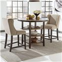 Signature Design by Ashley Moriann 3-Piece Counter Table Set - Item Number: D608-13+2x524