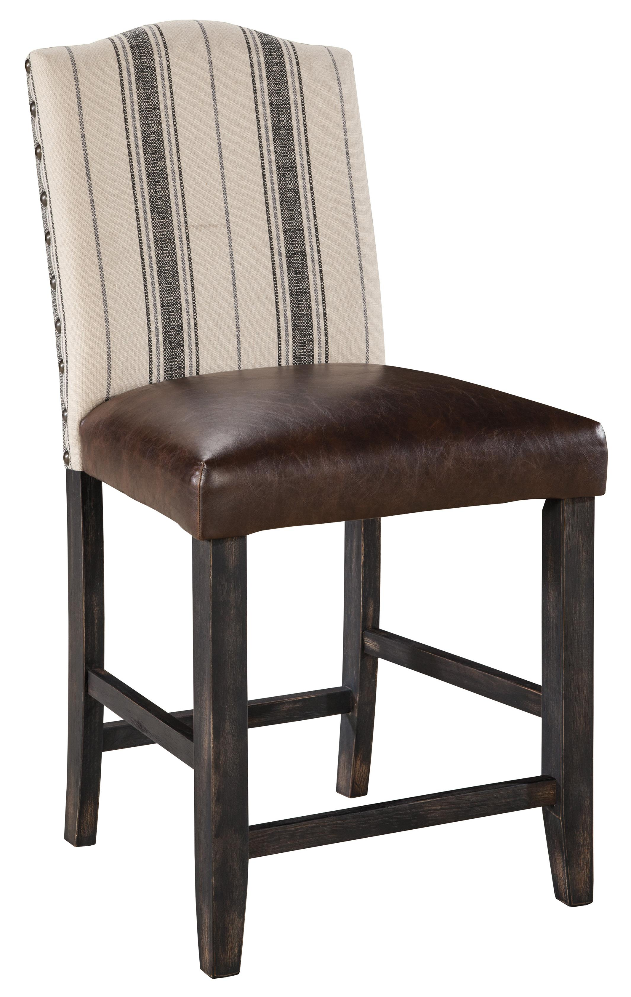 Signature Design by Ashley Moriann Upholstered Barstool - Item Number: D608-324