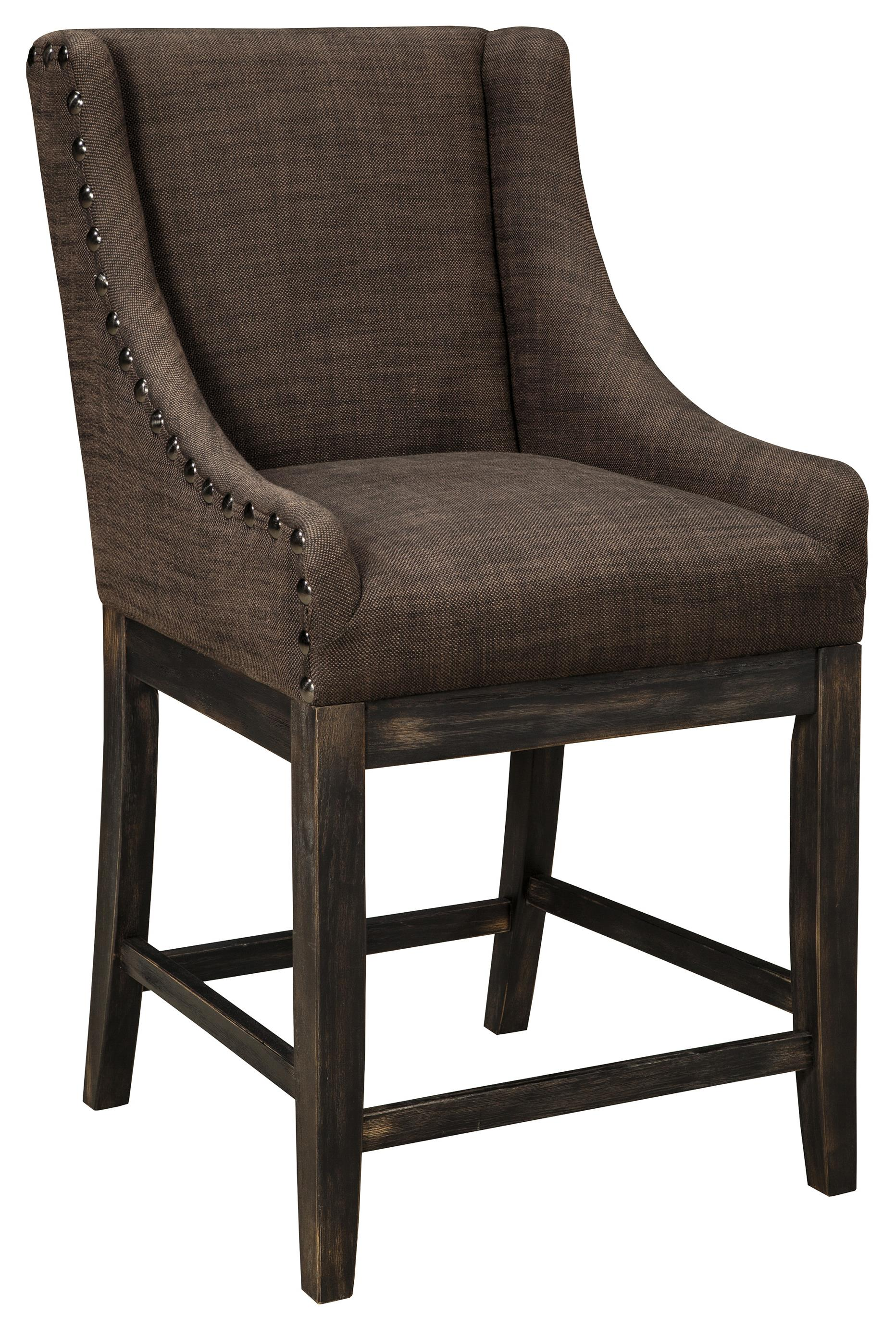 Signature Design by Ashley Moriann Upholstered Barstool - Item Number: D608-424