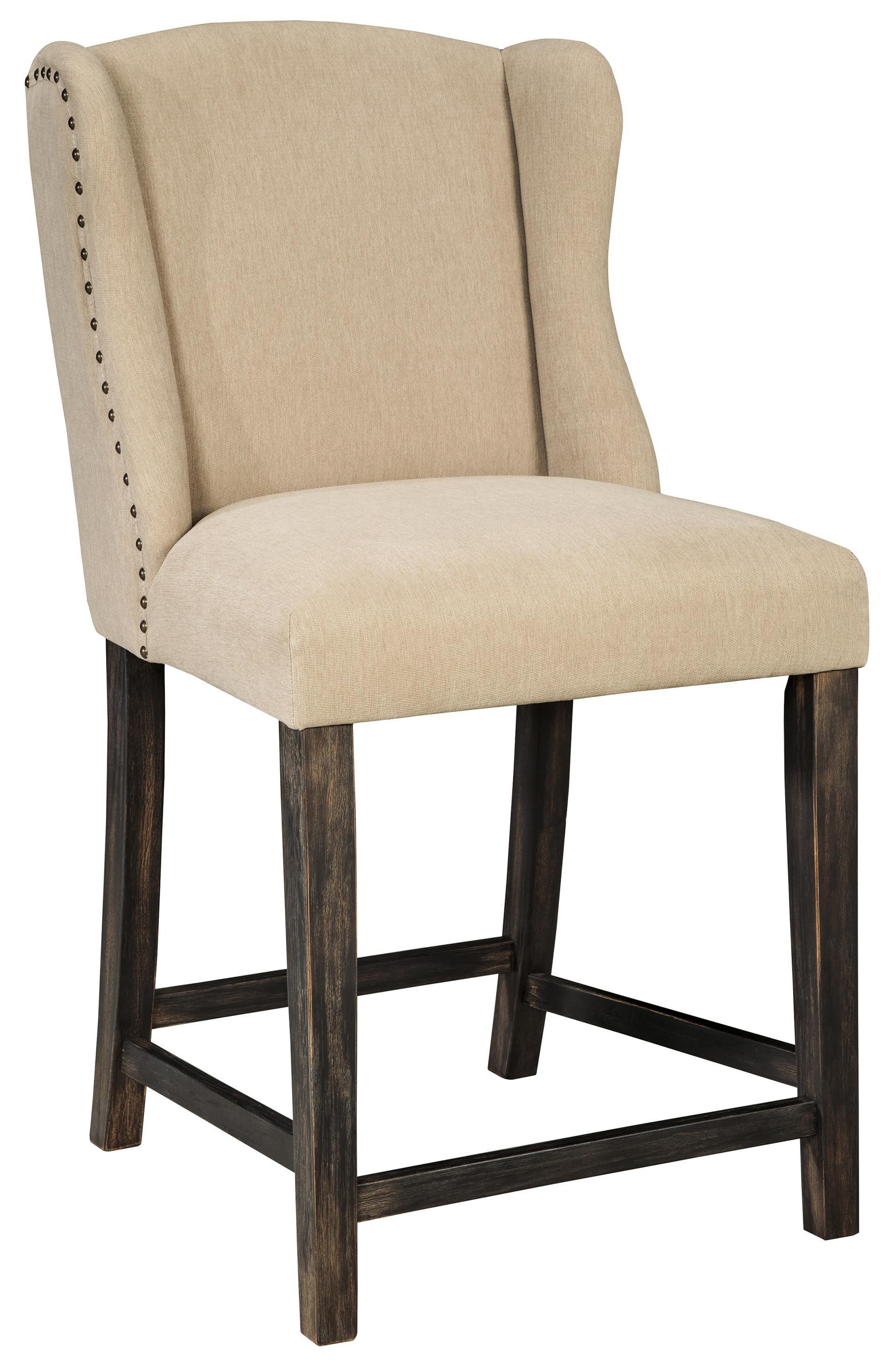 Signature Design by Ashley Moriann Upholstered Barstool - Item Number: D608-524