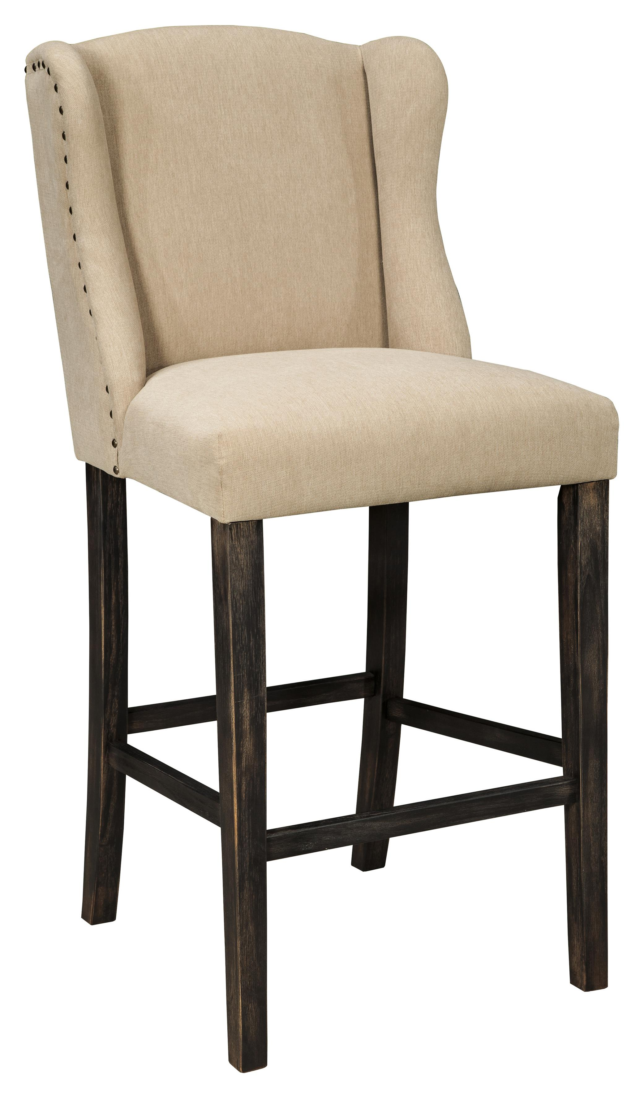 Signature Design by Ashley Moriann Tall Upholstered Barstool - Item Number: D608-530