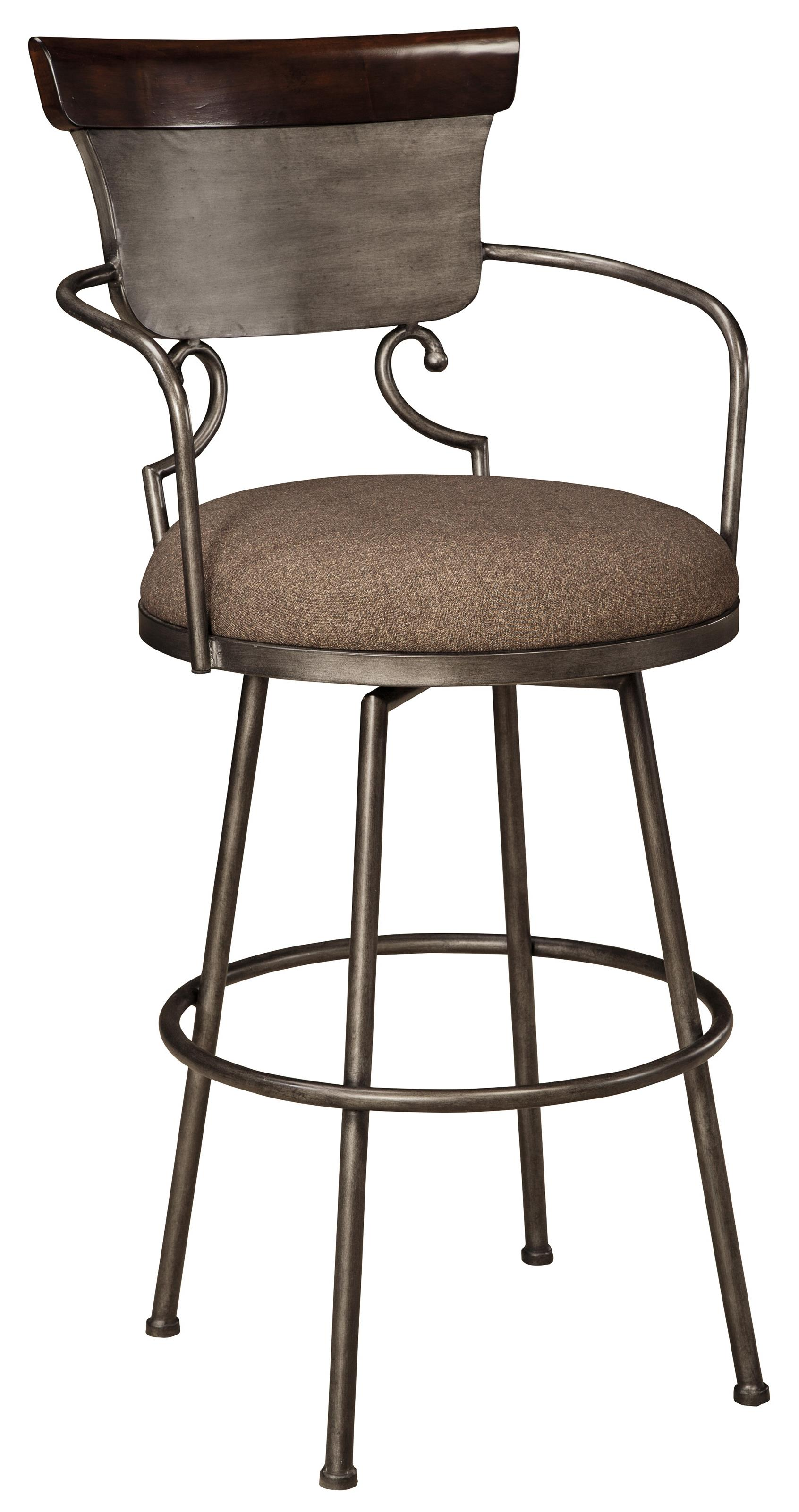 Signature Design by Ashley Moriann Tall Upholstered Barstool - Item Number: D608-630