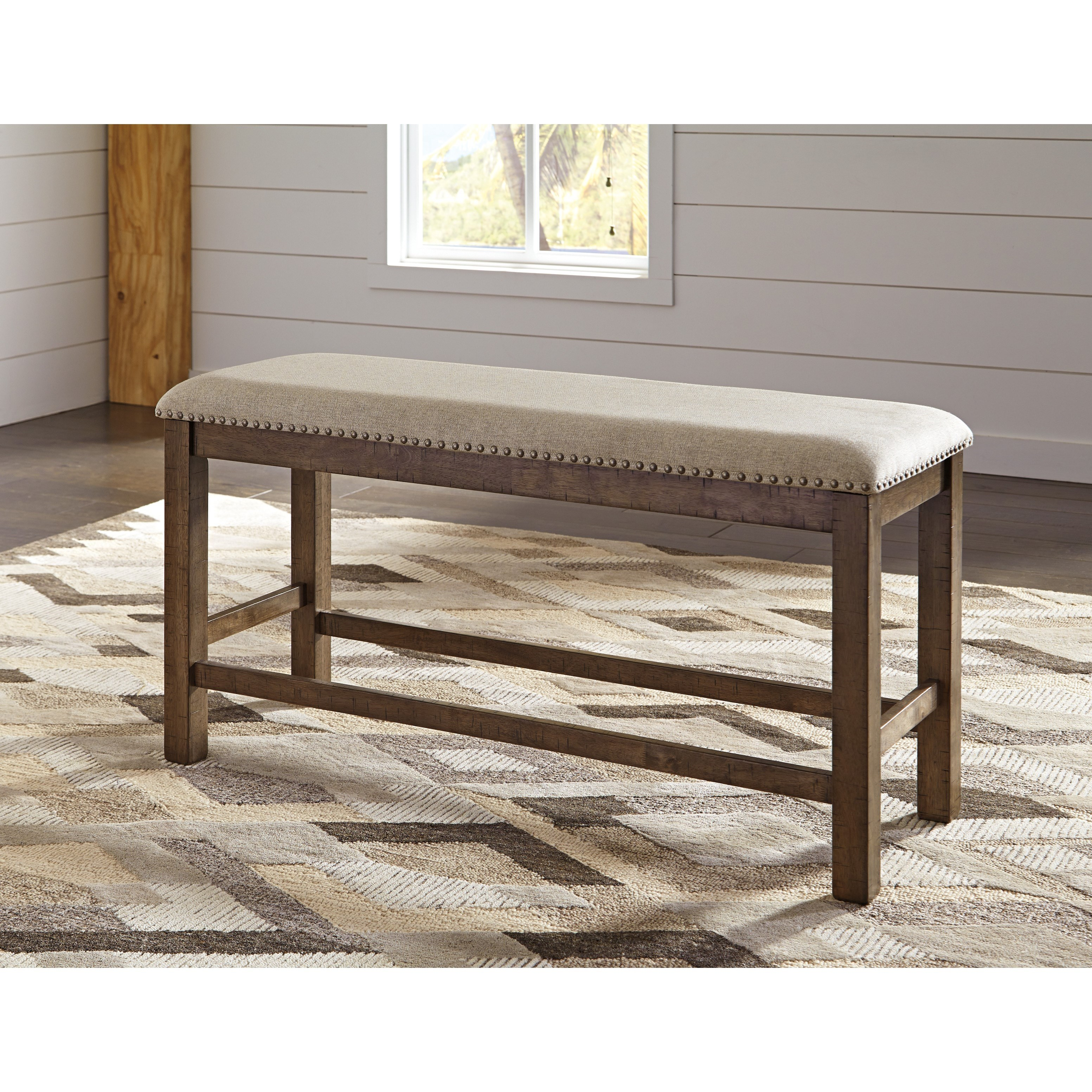 Signature Design By Ashley Moriville Double Upholstered Bench Royal Furniture Dining Benches