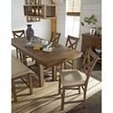 Signature Design by Ashley Moriville 6-Piece Rectangular Counter Table w/ Bench