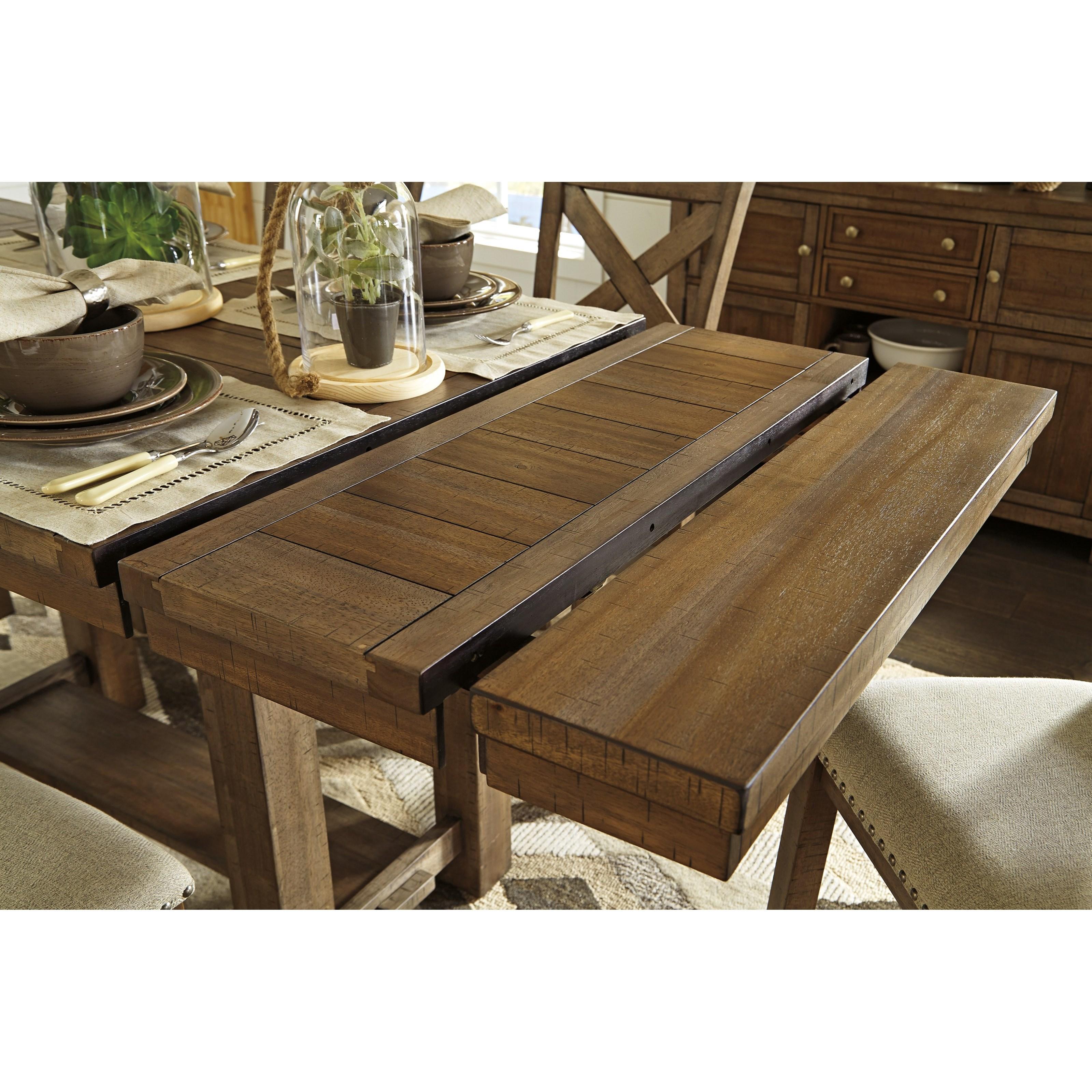 Ashley Haddigan Dark Brown 5 Pc. Rectangular Dining Room ...
