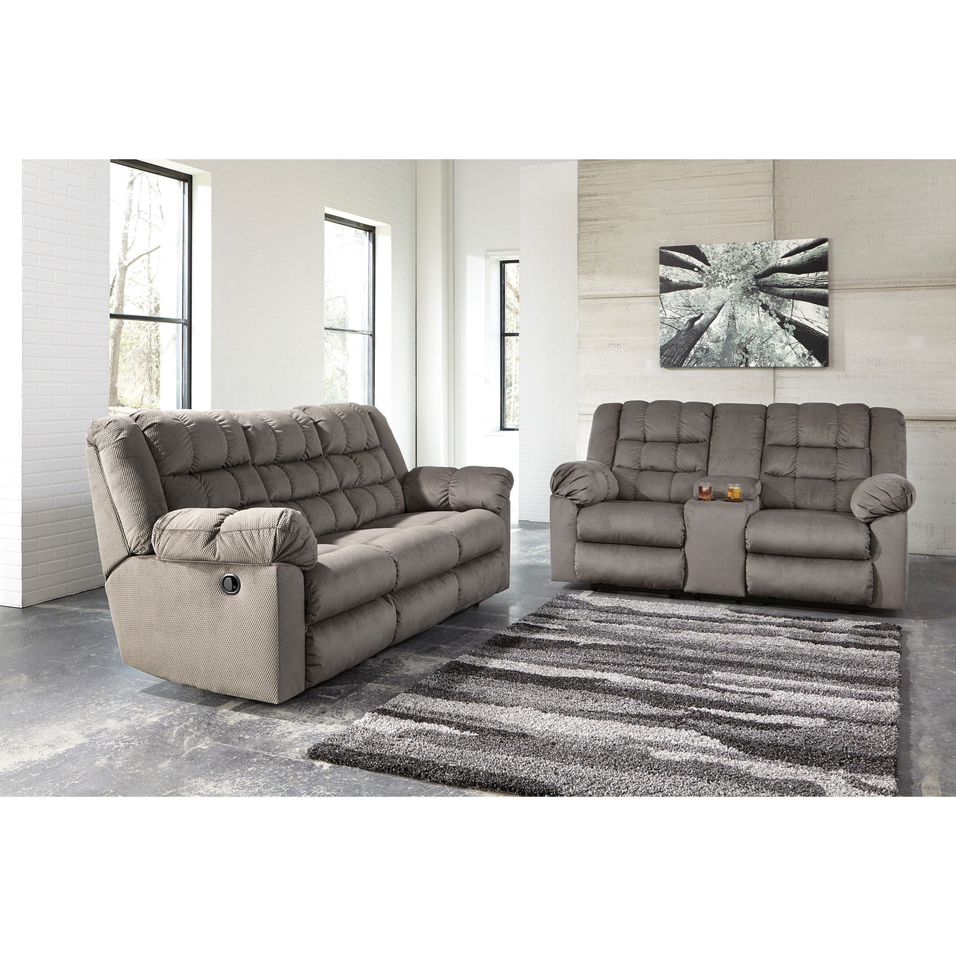 Signature Design by Ashley Mort Reclining Living Room Group - Item Number: 26105 Living Room Group 1