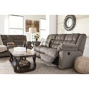 Signature Design by Ashley Mort Casual Contemporary Reclining Sofa