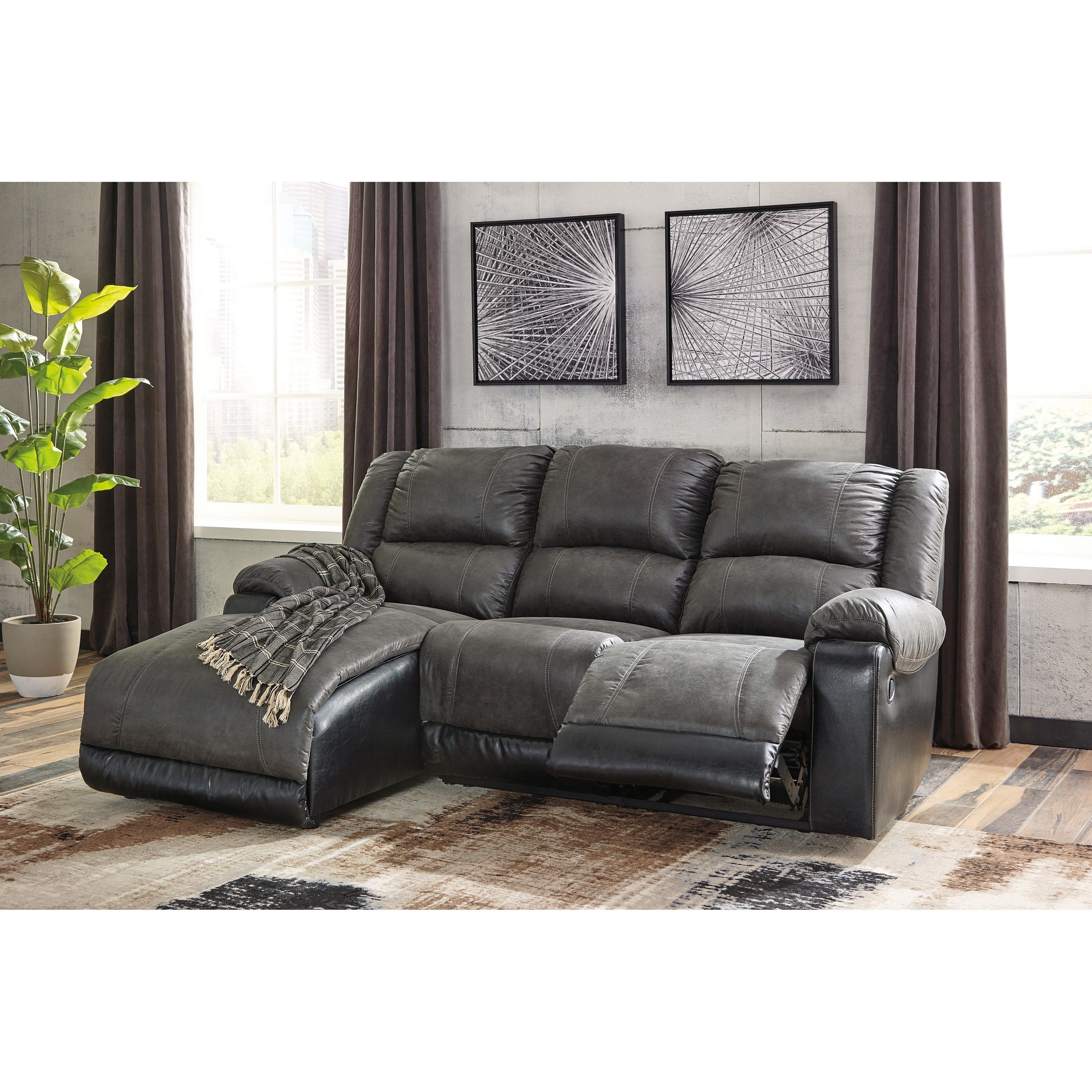 Signature Design By Ashley Nantahala Reclining Sofa With