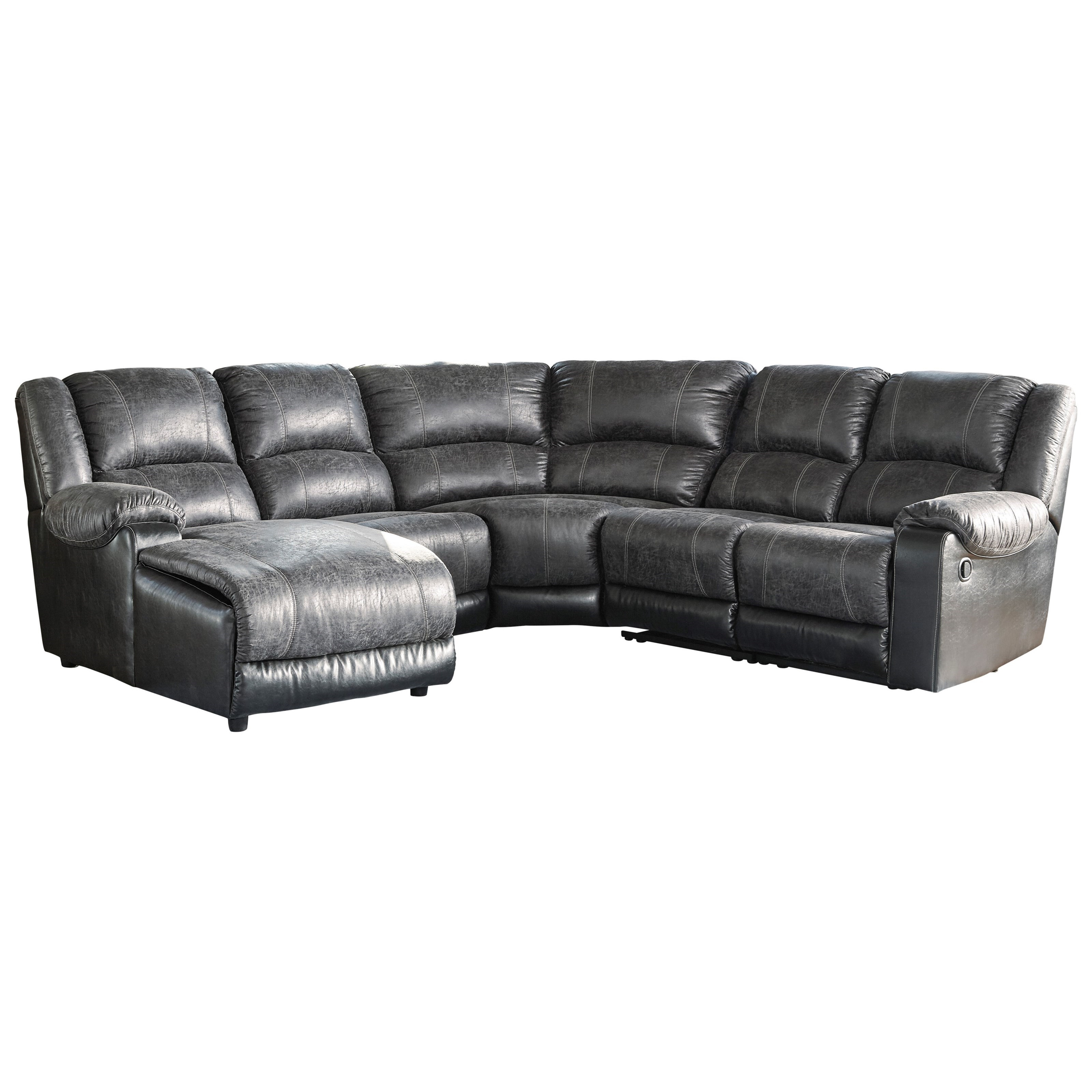 piece sofa leather with reclining coaster recliner number products item chestnut and mackenzie chaise sectional