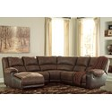 Signature Design by Ashley Nantahala Reclining Sectional with Chaise - Item Number: 5030216+46+77+19+41