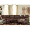 Signature Design by Ashley Nantahala Reclining Sectional with Chaise - Item Number: 5030240+19+77+46+17