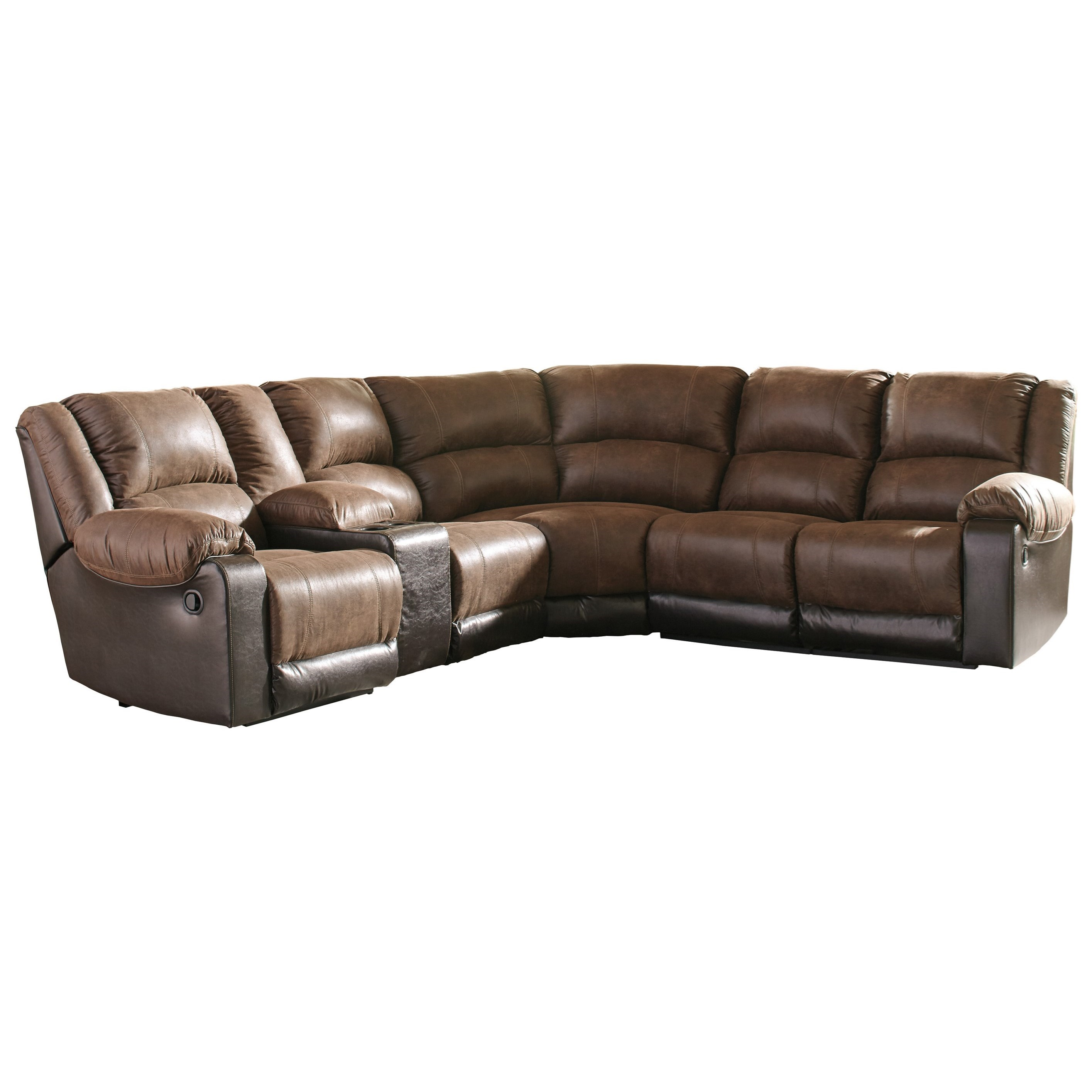 Reclining Sectional with Console
