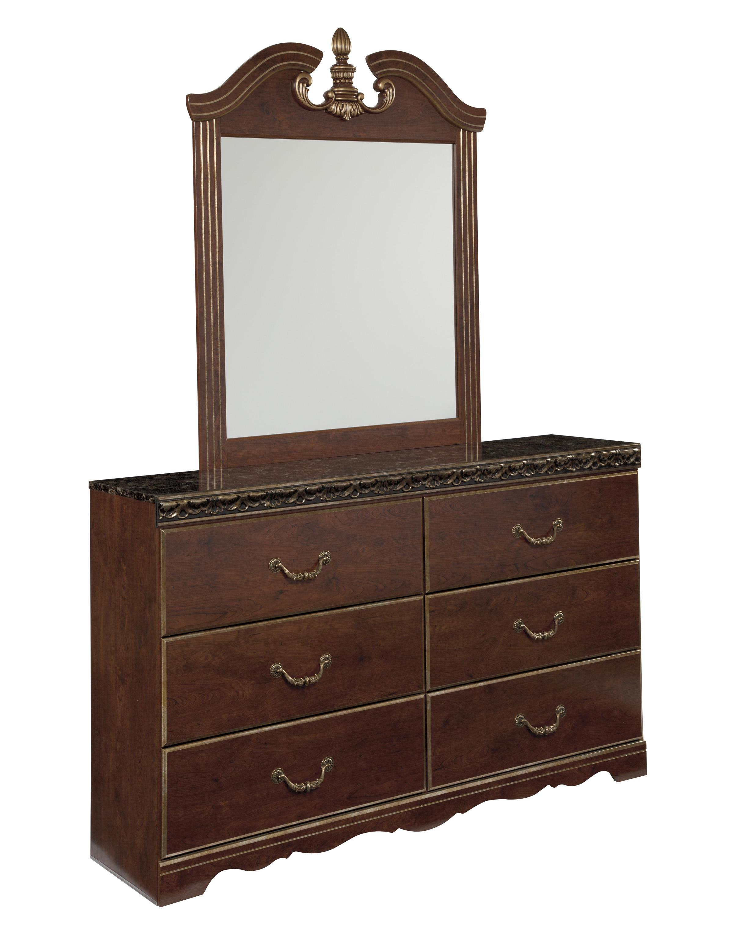 Signature Design by Ashley Naralyn Dresser and Mirror - Item Number: B164-31+36