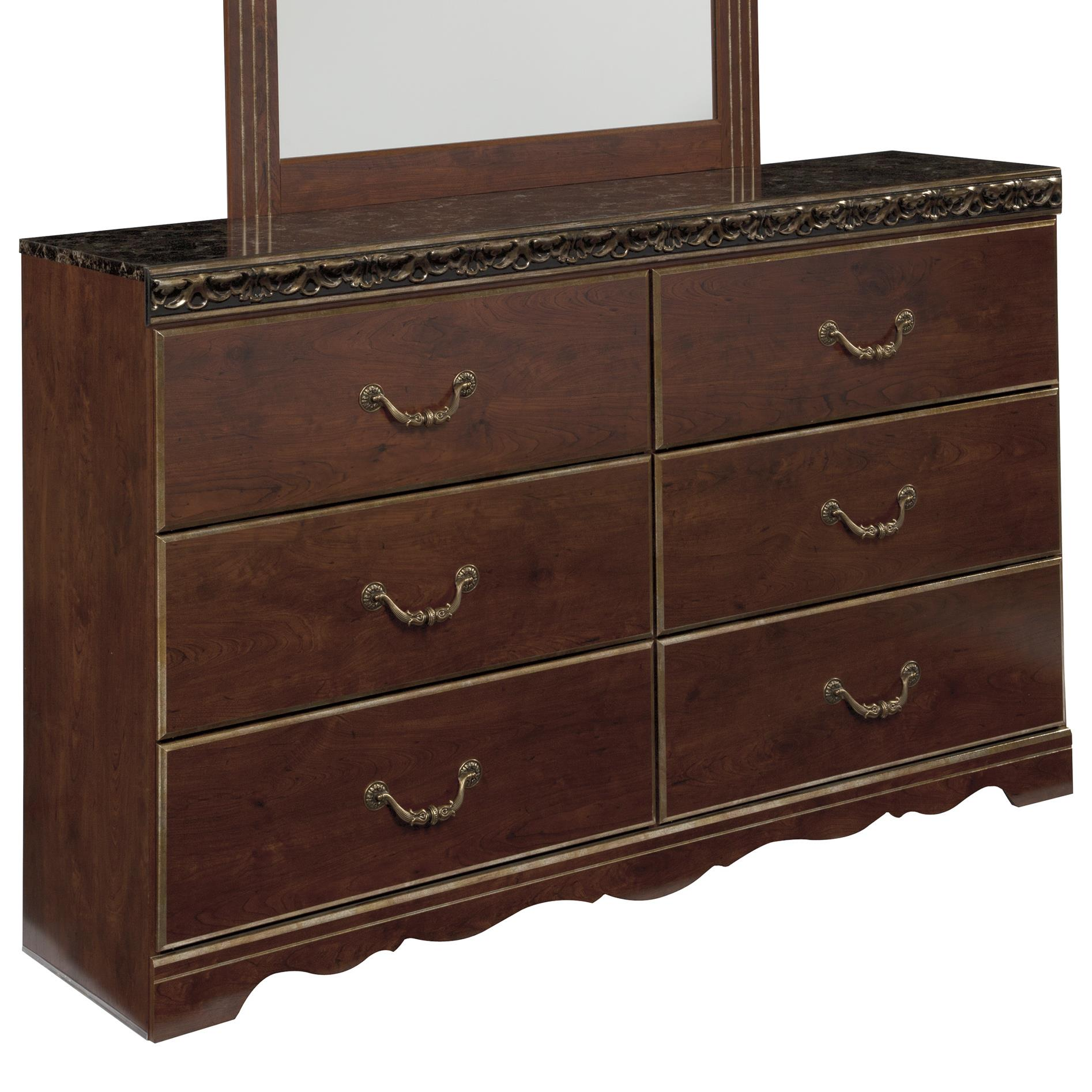 Signature Design by Ashley Naralyn 6 Drawer Dresser - Item Number: B164-31