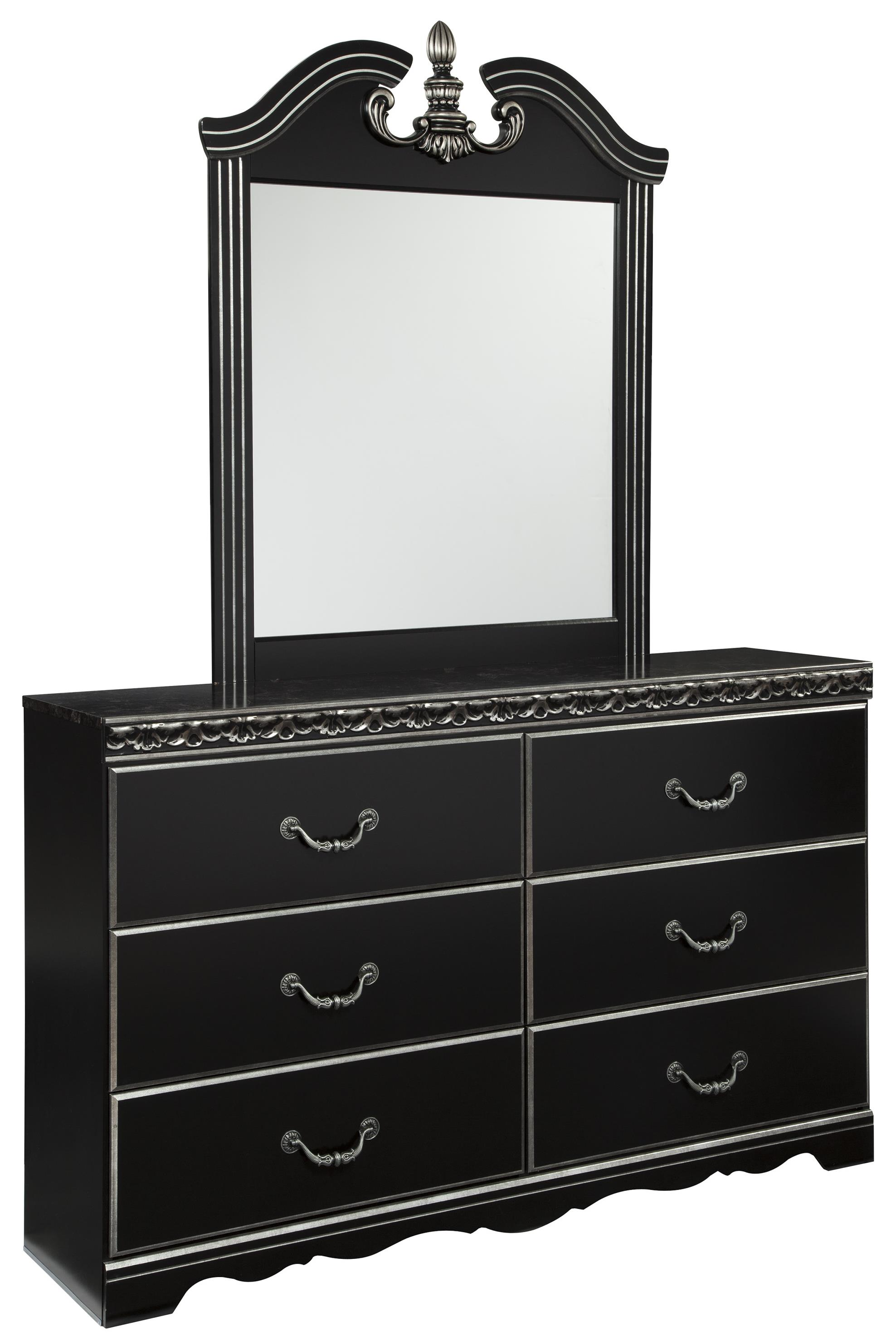 Signature Design by Ashley Navoni Dresser and Mirror - Item Number: B301-31+36