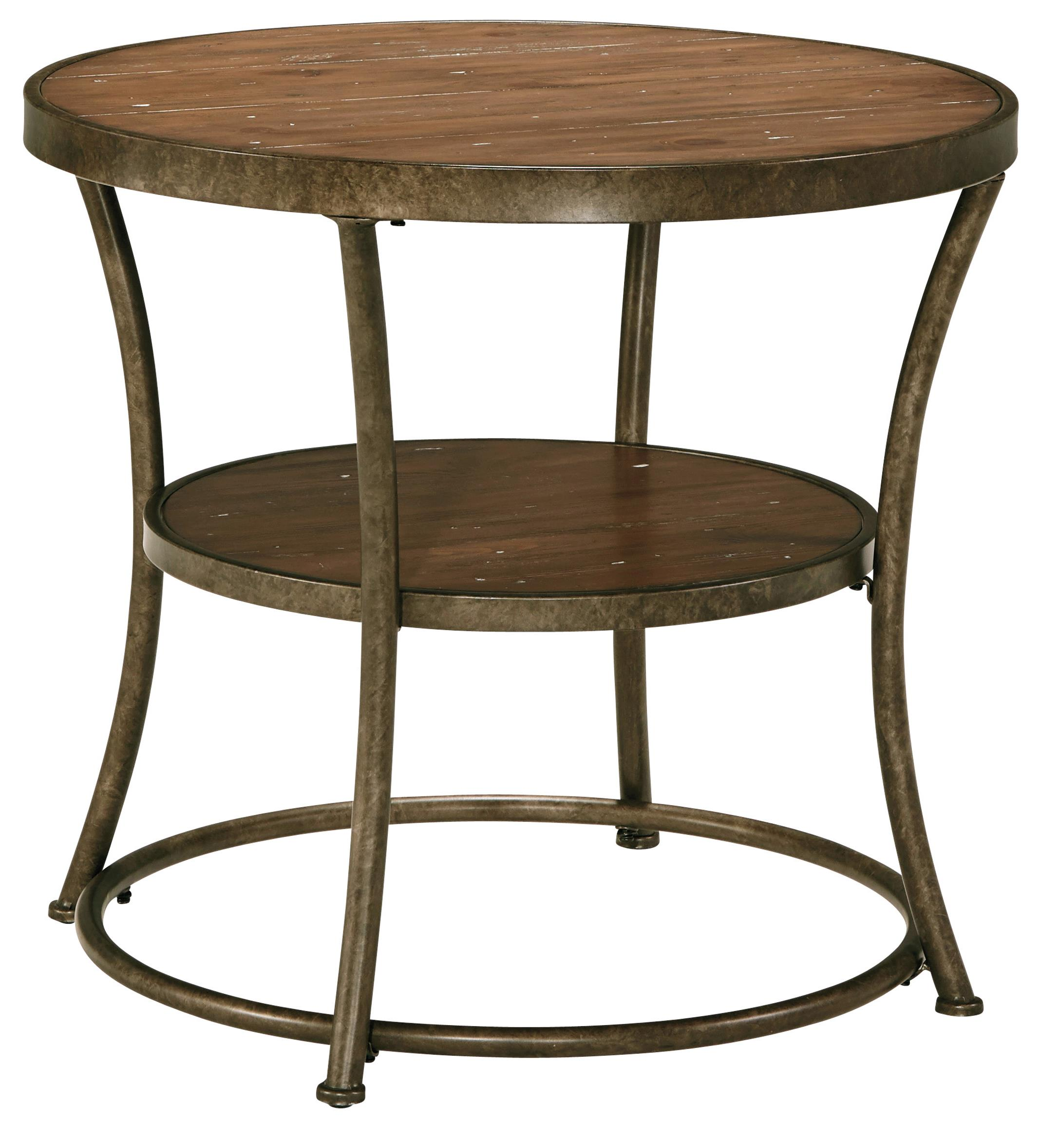 Signature Design by Ashley Nartina Round End Table - Item Number: T805-6