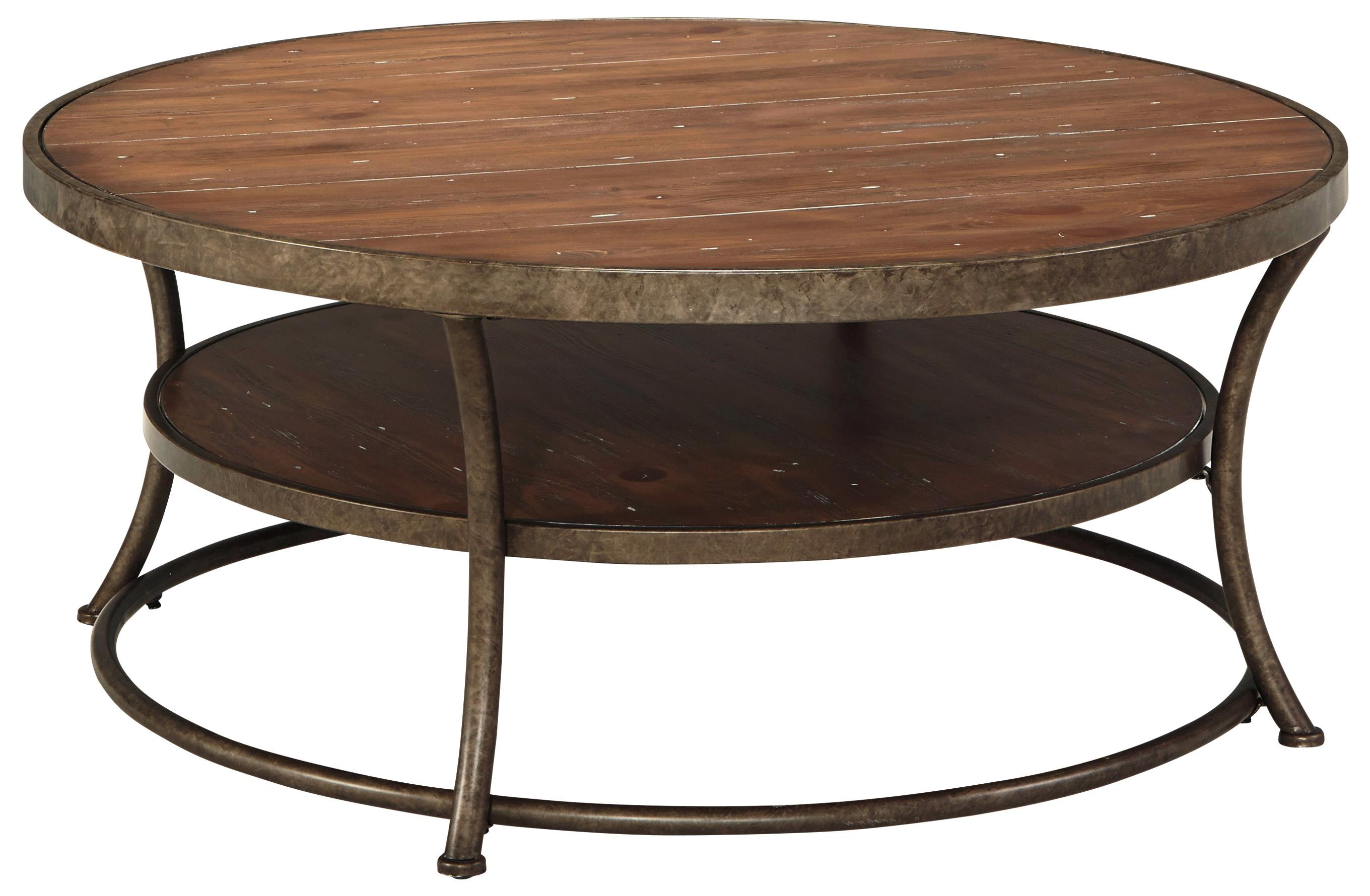 Signature Design by Ashley Nartina Round Cocktail Table - Item Number: T805-8