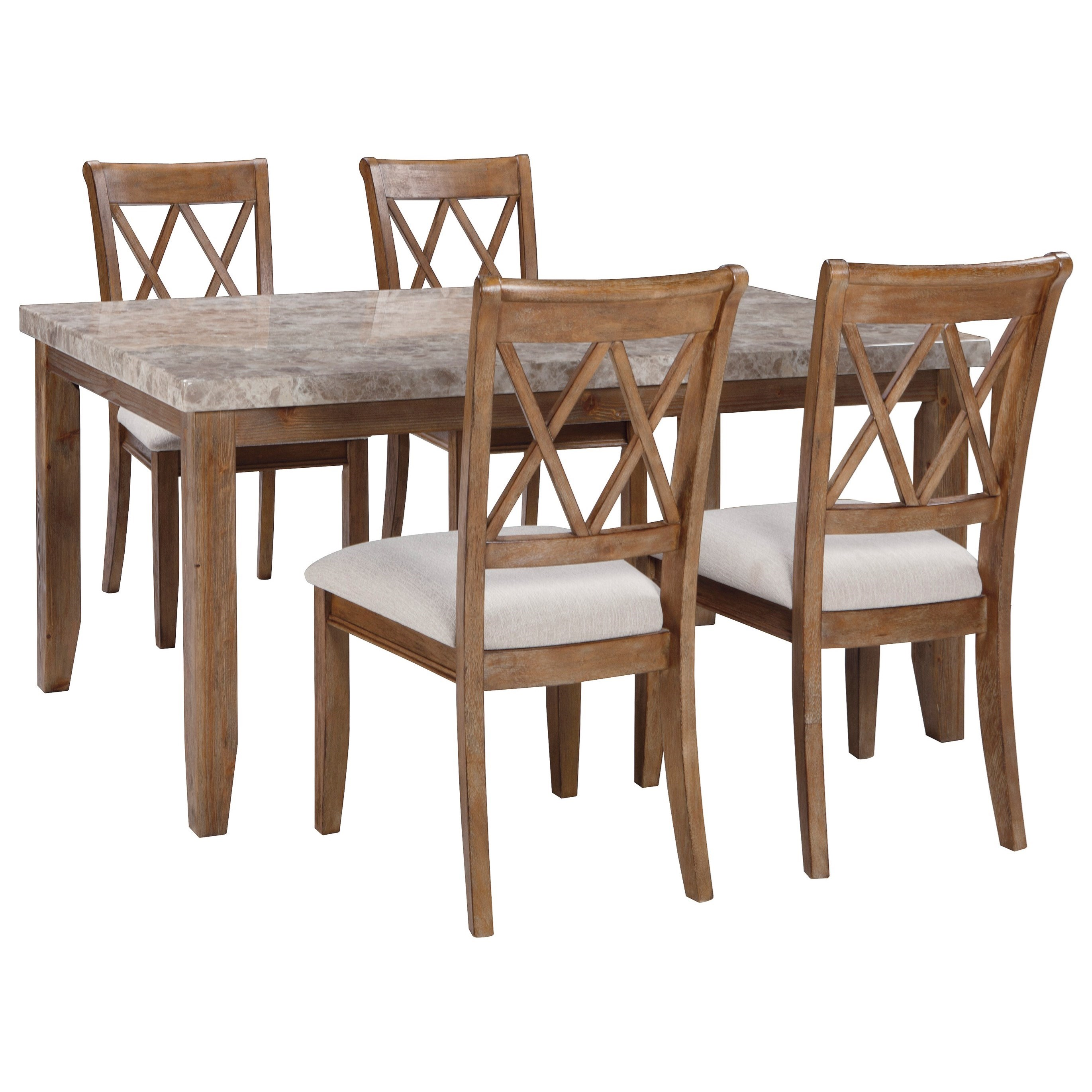 Signature Design by Ashley Narvilla 5-Piece Rectangular Dining Table Set - Item Number: D559-25+4x01