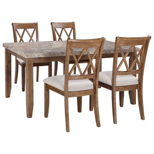 Signature Design by Ashley Narvilla 5-Piece Rectangular Dining Table Set