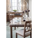 Signature Design by Ashley Narvilla 7-Piece Rectangular Dining Table Set with Faux Marble Top