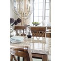 Signature Design by Ashley Narvilla Rectangular Dining Room Table with Faux Marble Top