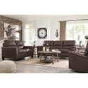 Signature Design by Ashley Navi Faux Leather Loveseat