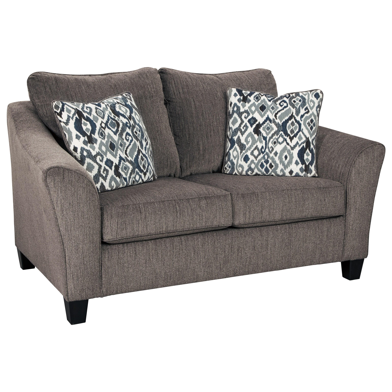 Ashleys Furniture Anchorage: Signature Design Nemoli Transitional Loveseat With Flared