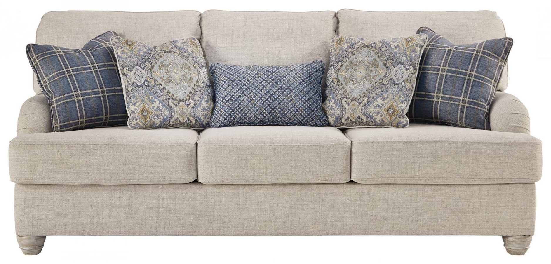 Nicola Nicola Sofa with Accent Pillows by Ashley at Morris Home