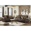 Signature Design by Ashley Nicorvo Stationary Living Room Group - Item Number: 80505 Living Room Group 1