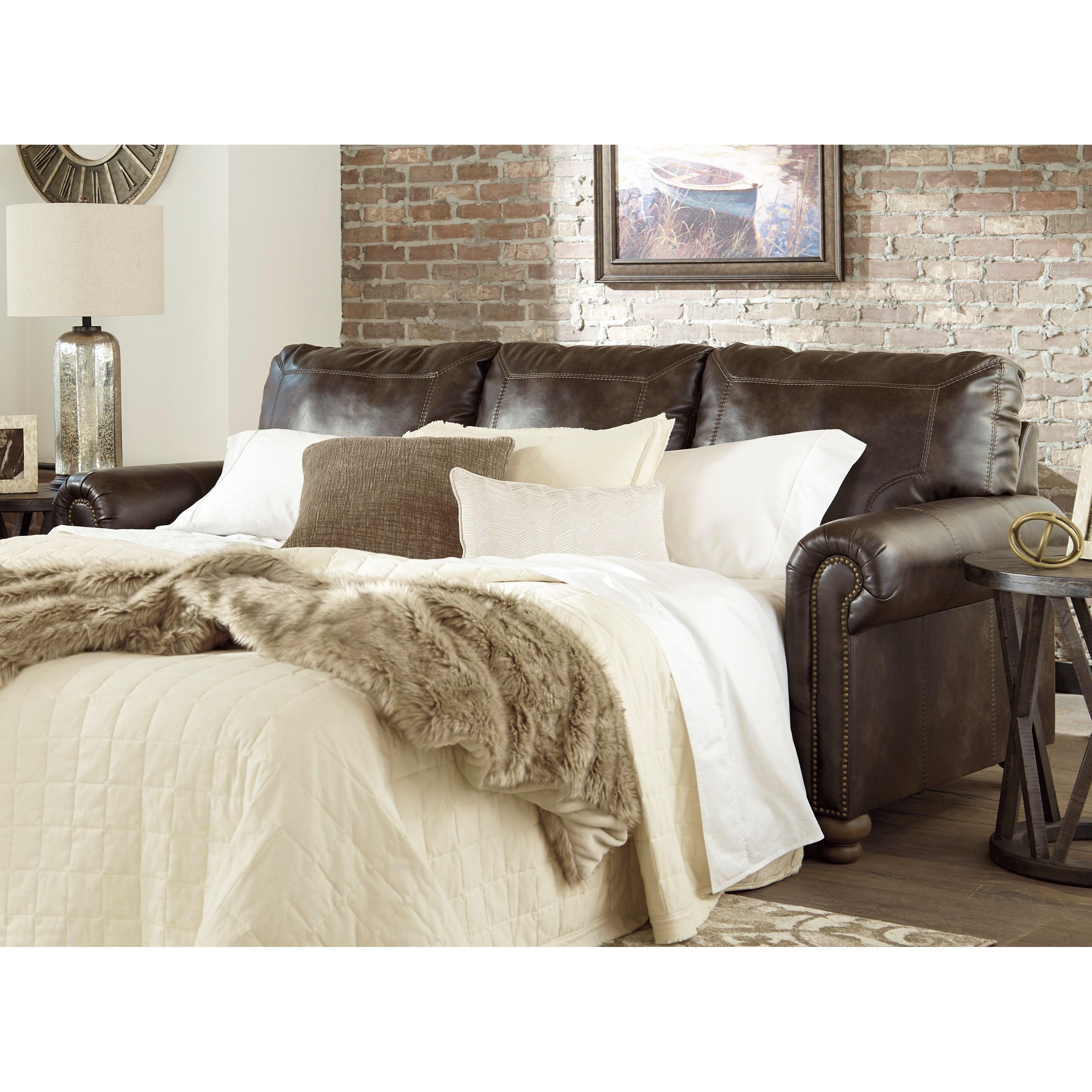 Ashley Furniture Prices Online: Ashley Signature Design Nicorvo Traditional Queen Sofa
