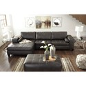 Signature Design by Ashley Nokomis Rectangular Faux Leather Oversized Accent Ottoman