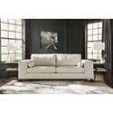 Signature Design by Ashley Nokomis Contemporary Faux Leather Sofa