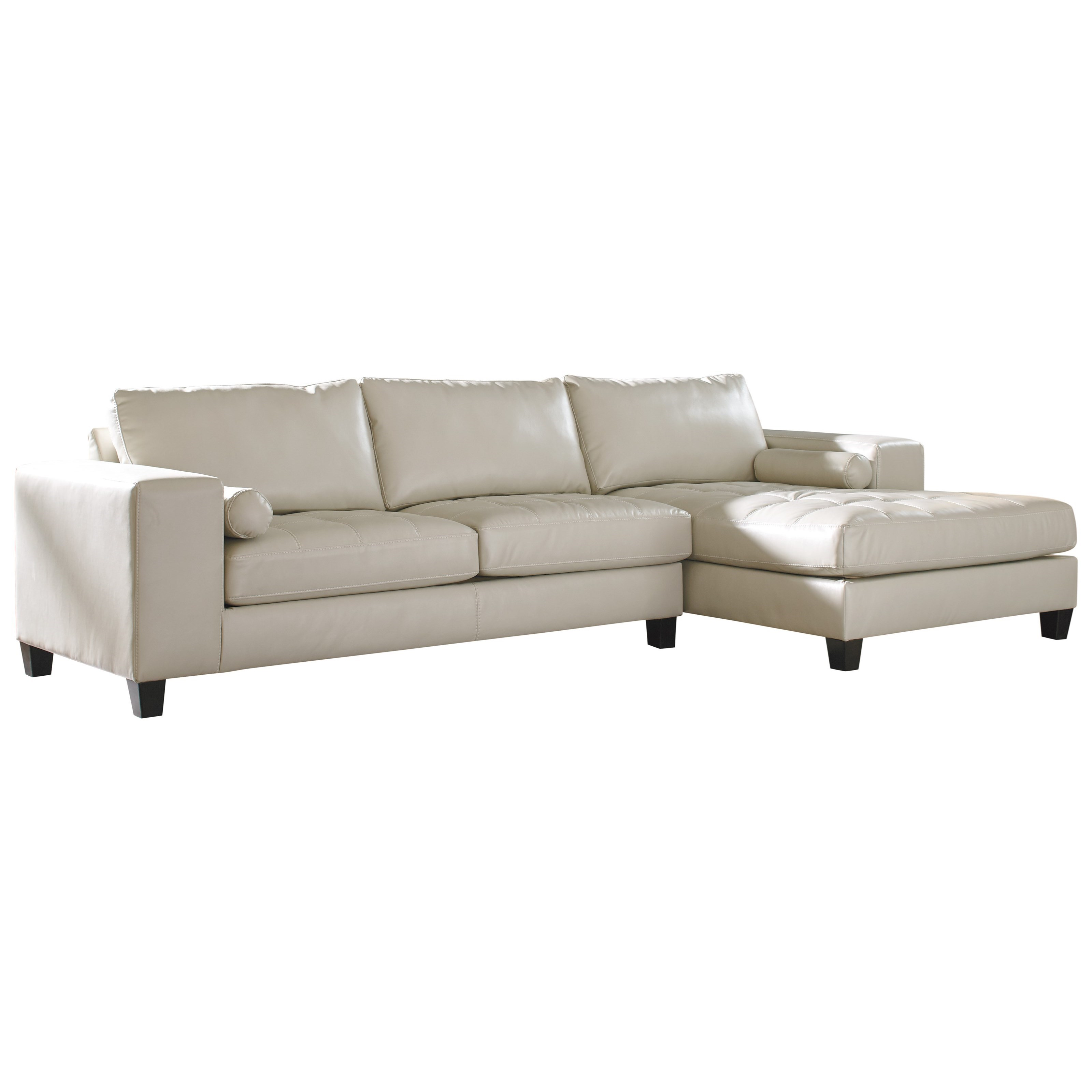 Signature Design by Ashley Nokomis Sectional with Right Chaise - Item Number: 8770266+17