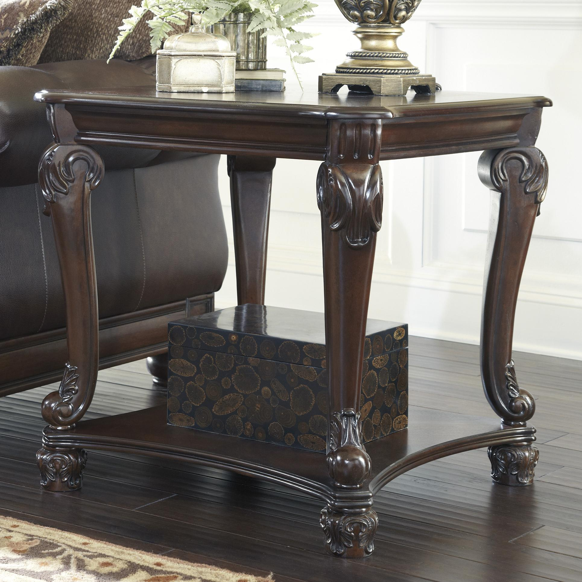 Signature Design by Ashley Norcastle Traditional Square End Table with