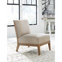Signature Design by Ashley Novelda Armless Accent Chair with Wood Frame