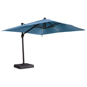 Signature Design by Ashley Oakengrove Blue Large Cantilever Umbrella