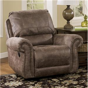 Signature Design by Ashley Oberson - Gunsmoke Swivel Glider Recliner