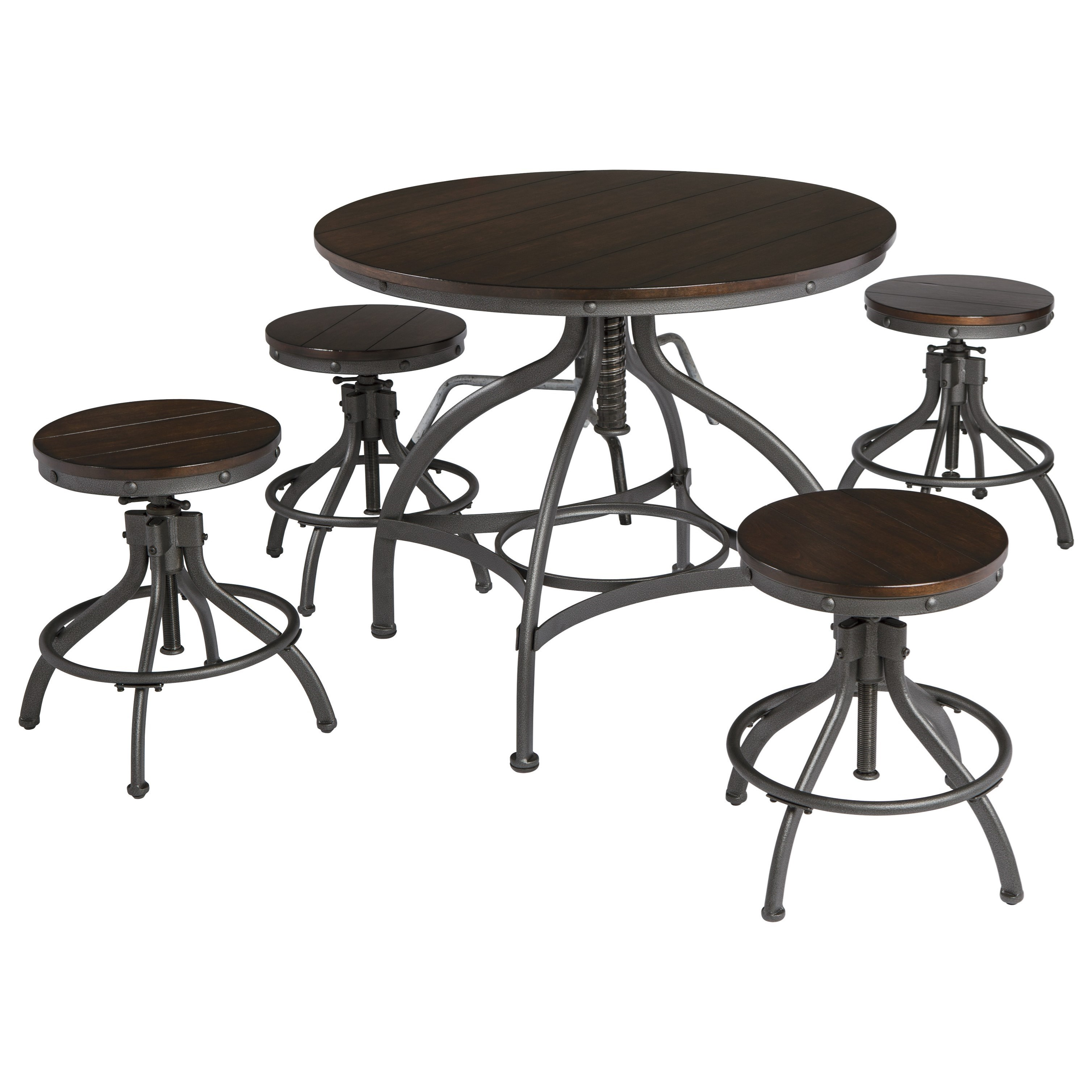 Signature Design By Ashley Odium Adjustable 5 Piece Dining