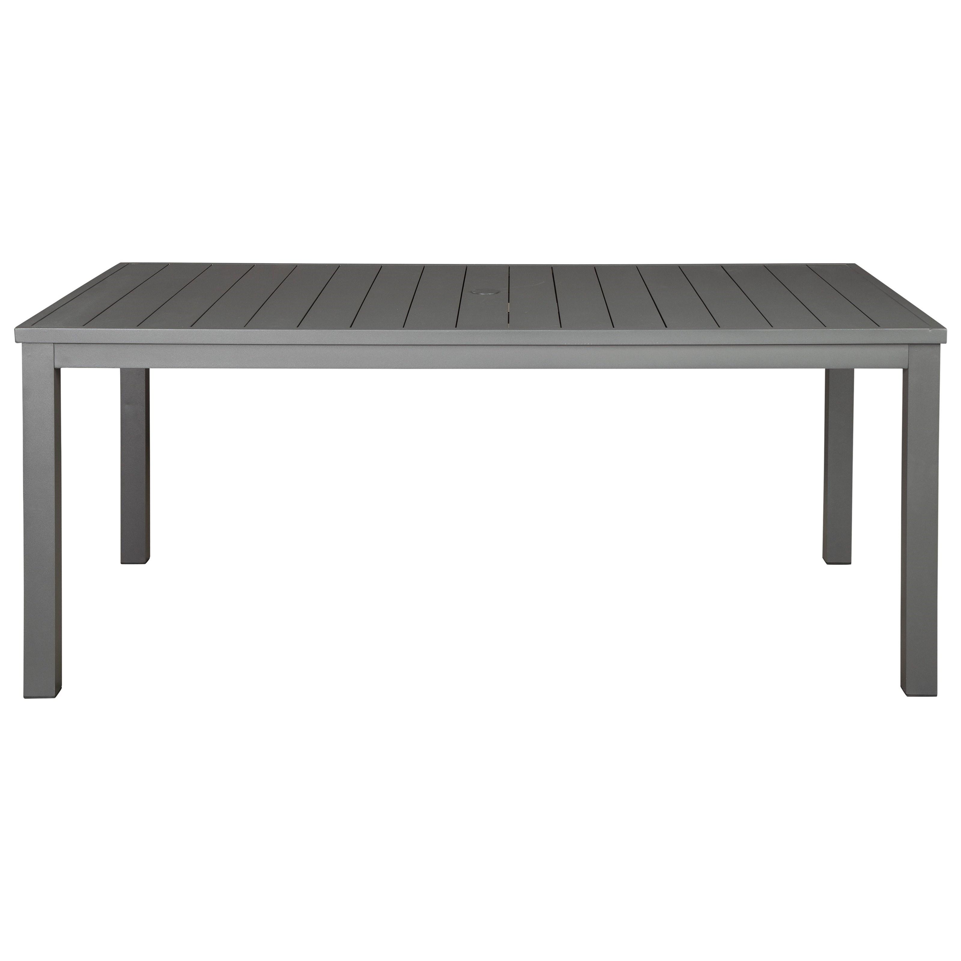 Rectangular Dining Table w/ Umbrella Option