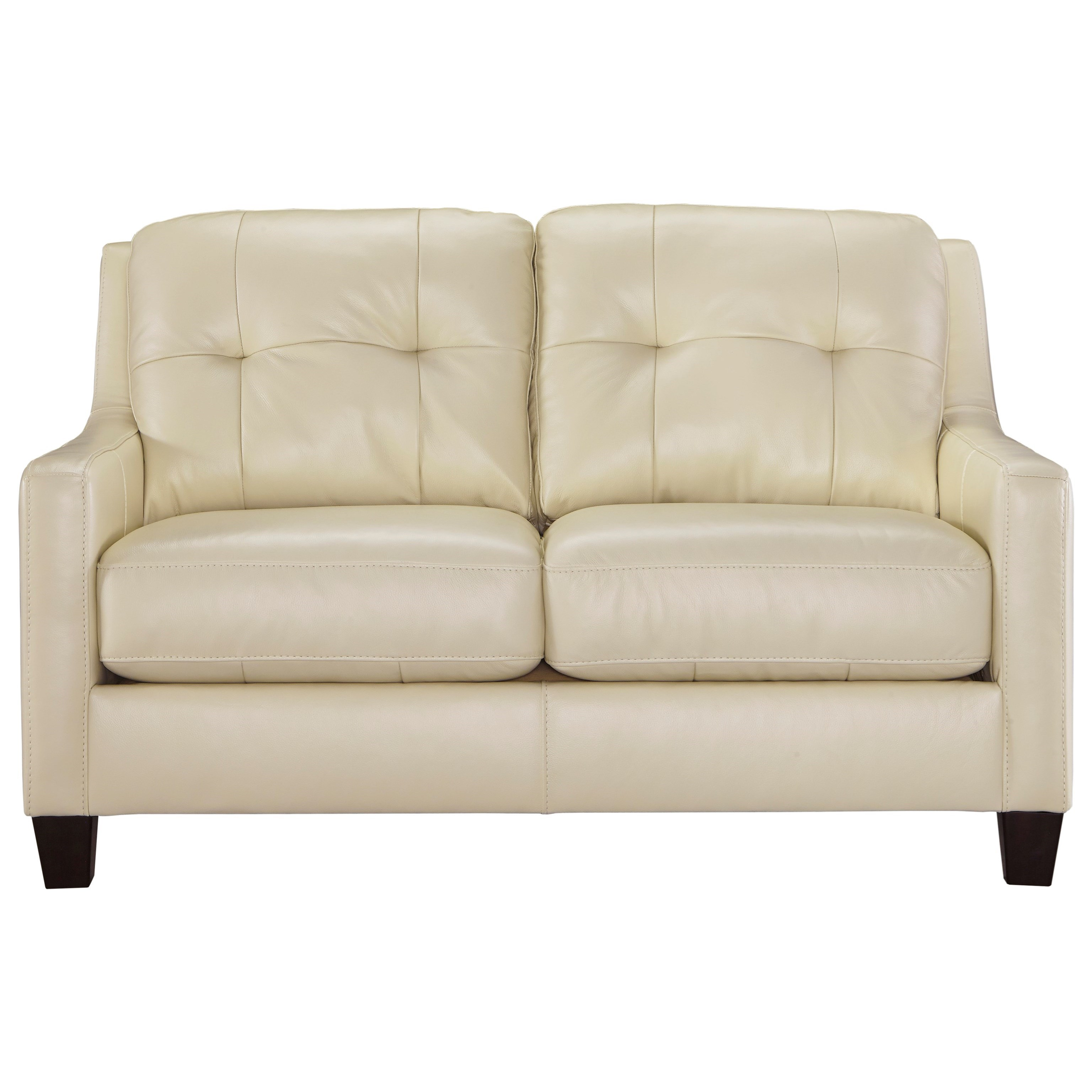 Ashley Signature Design O 39 Kean 5910235 Contemporary Leather Match Loveseat With Tufted Back