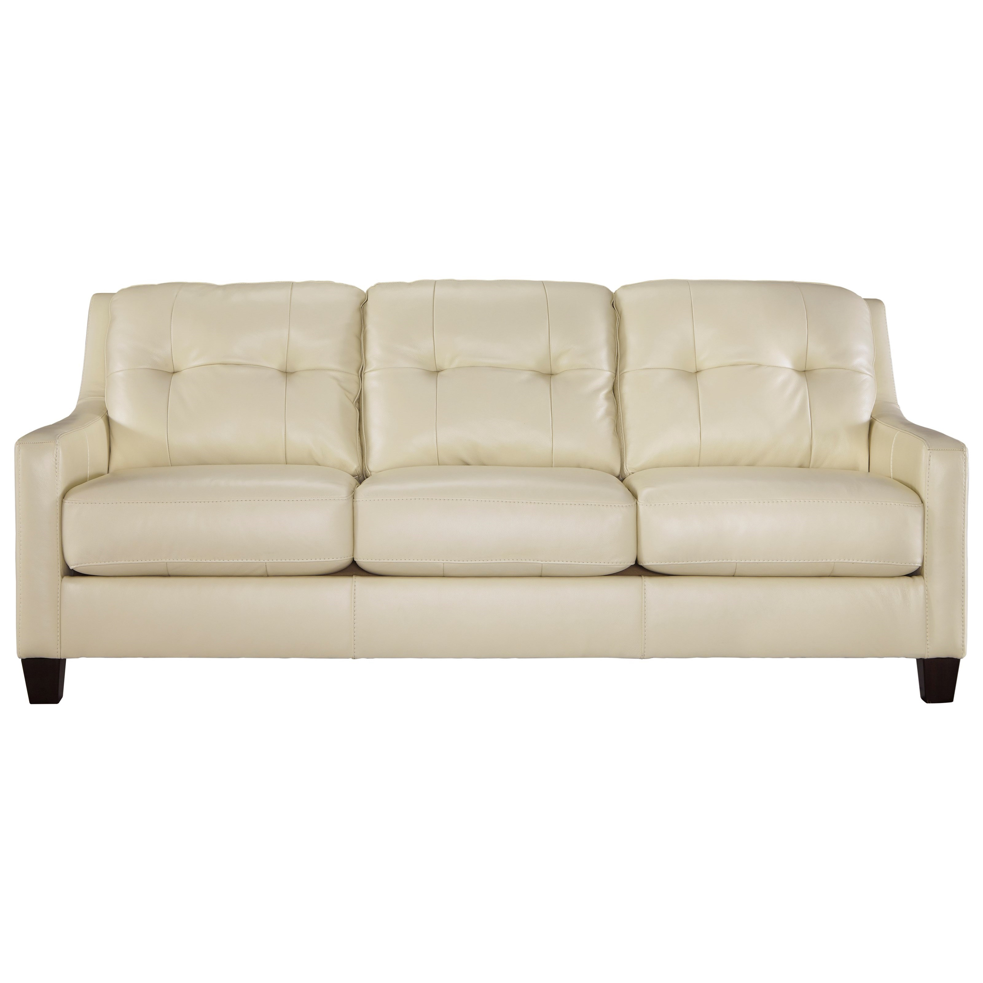 Signature Design by Ashley O'Kean Contemporary Leather Match Sofa ...