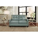 Signature Design by Ashley O'Kean Contemporary Leather Match Loveseat with Tufted Back & Track Arms