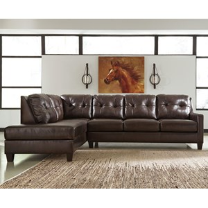 Signature Design by Ashley O'Kean 2-Piece Sectional with Sleeper