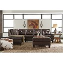 Signature Design by Ashley O'Kean Leather Match 2-Piece Sectional with Left Chaise & Sleeper