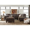 Signature Design by Ashley O'Kean Leather Match 2-Piece Sectional with Right Chaise