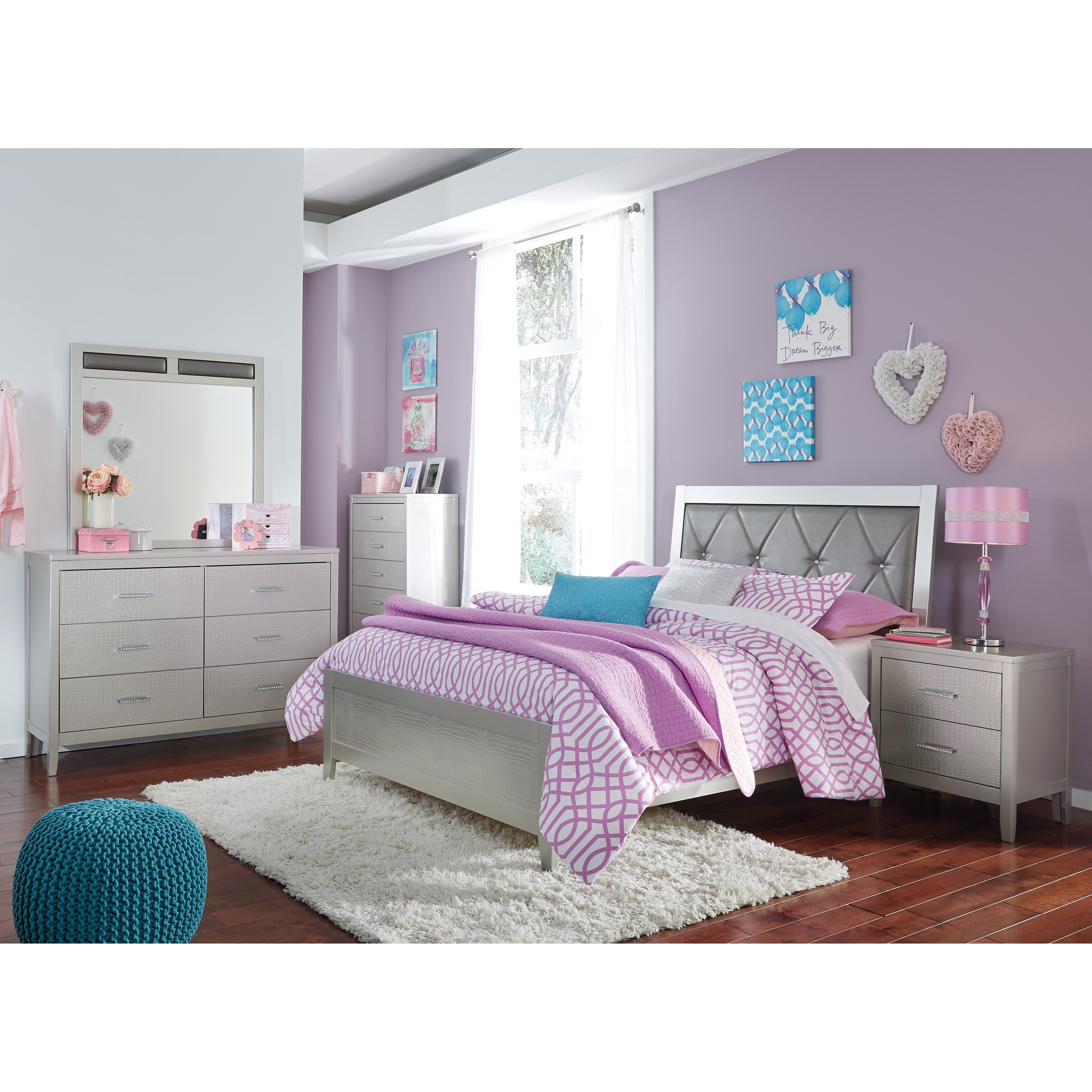 Del sol as olivet glam full bedroom group del sol - Ashley furniture full bedroom sets ...