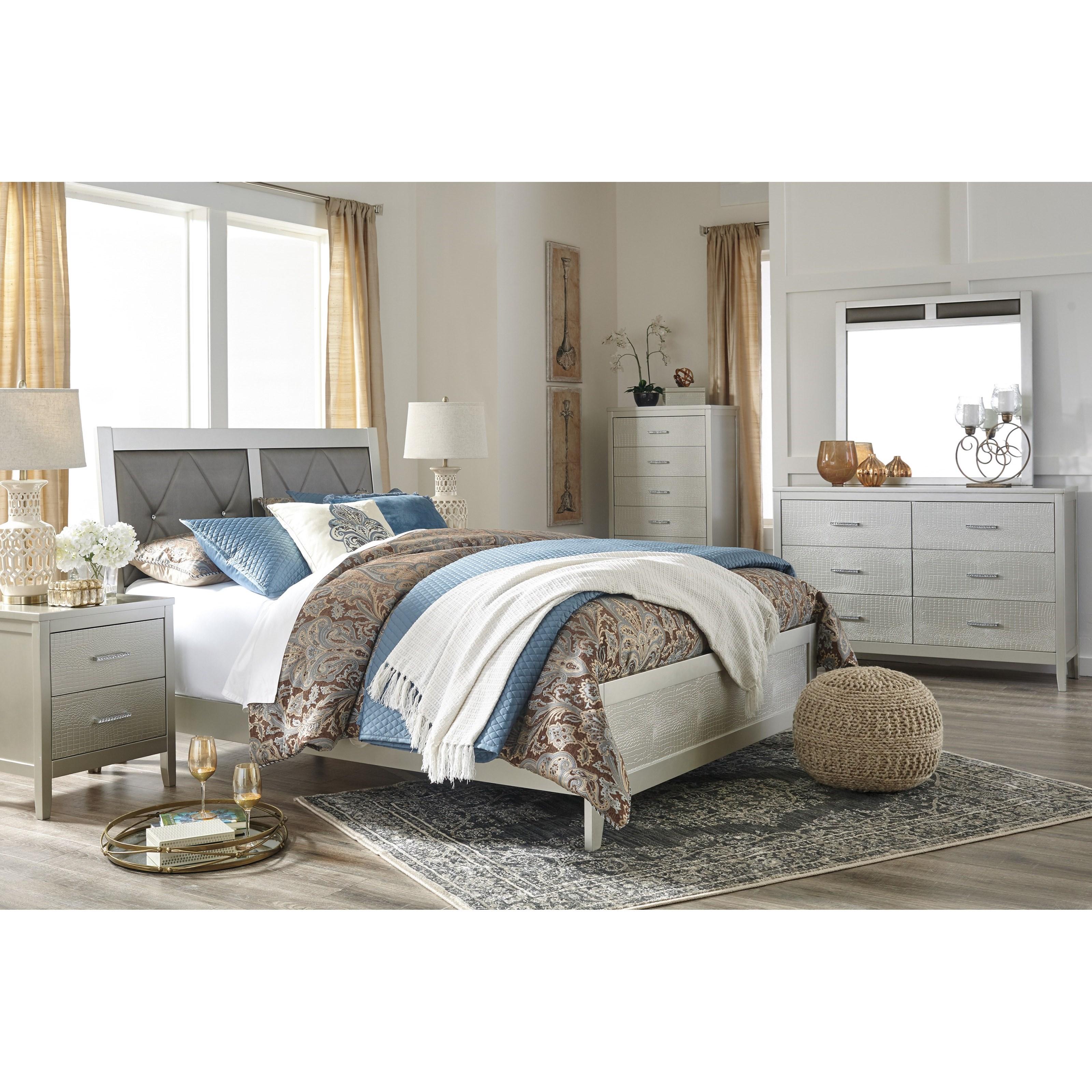 Signature Design By Ashley Olivet Glam King Bedroom Group Sam Levitz Furniture Bedroom Groups